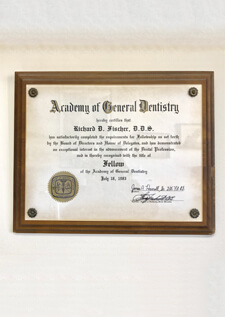 Academy of General Dentistry Award